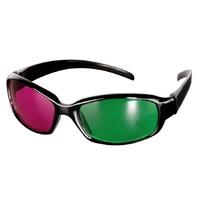 Plastic magenta/green anaglyph glasses