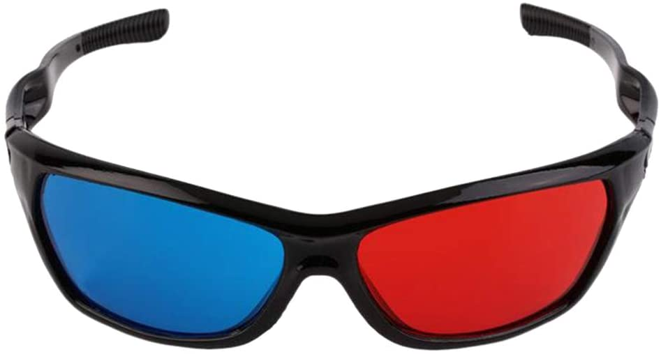 Plastic red/cyan anaglyph glasses